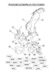 Printables Europe Geography Worksheets europe worksheets versaldobip english teaching european countries