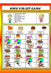 English Worksheets: HAVE YOU GOT GAME(TOYS VOCABULARY)