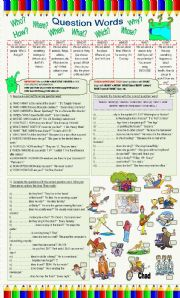 English Worksheets: Question Words