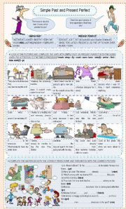 English Worksheet: Simple Past and Present Perfect