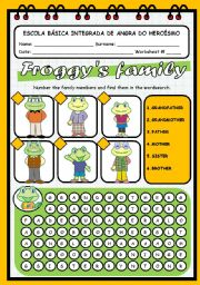 English Worksheets: FROGGY�S FAMILY