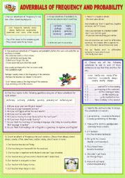 English Worksheets: ADVERBIALS OF FREQUENCY AND PROBABILITY
