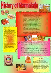 English Worksheet: History of Marmalade