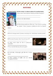 English Worksheets: Varieties of English - Worksheet on the Film The Pink Panther