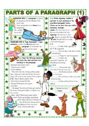 English Worksheets: PARTS OF A PARAGRAPH (1/2) EASY REFERENCE AND ACTIVITIES .Upper Elementary & up.