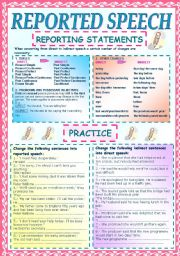 REPORTED SPEECH: STATEMENTS. RULES & PRACTICE