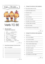 English Worksheet: Verb to BE