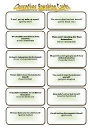 CAUSATIVES SPEAKING CARDS - 1 -