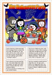 English Worksheet: THE HALLOWEEN PARTY