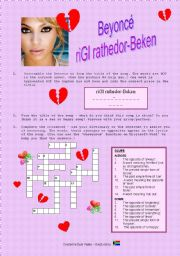 English Worksheet: Song: Beyonce Broken Hearted Girl