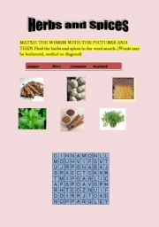 English Worksheets: Herbs and Spicies
