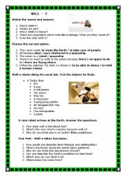 English Worksheets: Wall-e (Let�s think!)
