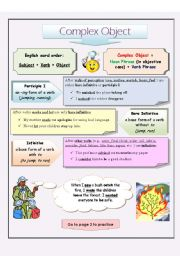 English Worksheet: Complex Object (page 1)
