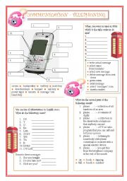 English Worksheet: Communication - Telephoning