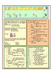 English Worksheet: AM, IS, ARE, AREN�T, DO, DON�T, DOES, DOESN�T