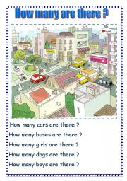 English Worksheets: How many are there ?