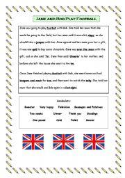 English Worksheet: British English