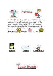 English Worksheets: Fast Ball