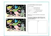 English Worksheet: Find the Differences in the Pictures