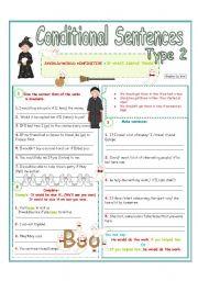 English Worksheet: Conditional sentences (Type 2 )3/4