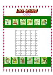 English Worksheets: Action crossword