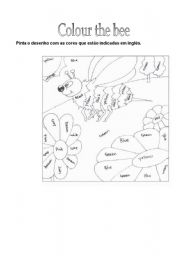 English Worksheet: Colour the bee!