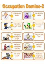 English Worksheet: Job domino