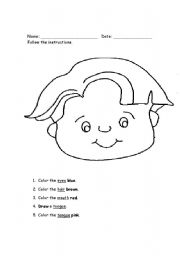 face parts coloring pages - photo#34