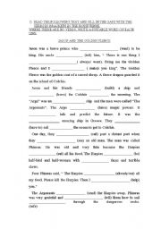 English Worksheets: Jason and the Golden Fleece