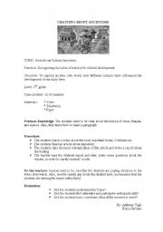 English Worksheets: chatting about ancestors
