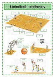 English Worksheet: Basketball - pictionary