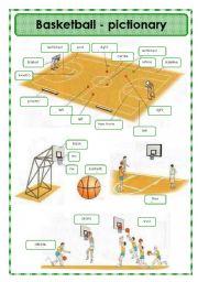 Printables Basketball Worksheets english teaching worksheets basketball pictionary