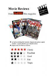 English Worksheet: Movie Reviews 2009