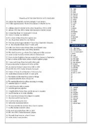 English Worksheets: from.....to