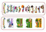 English Worksheet: MONTHS and SEASONS /bookmarks/