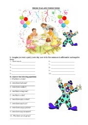 English Worksheets: there was and there were