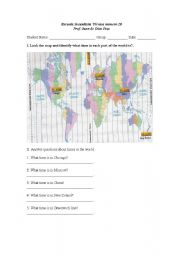 English Worksheet: What time is it in Chicago?