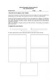 English Worksheets: Lindas Routine