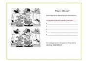 English Worksheets: What is different?