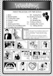 Wedding - matching exercise