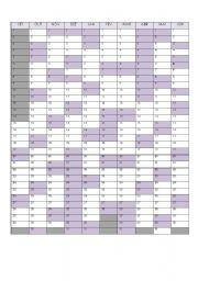 English Worksheet: School Year Calendar 2009-2010 - Portugal
