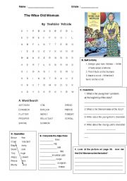 English Worksheets: The Wise Old Woman