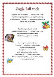 english worksheet jingle bell rock