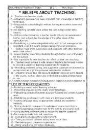 English Worksheet: teaching