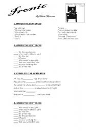 English Worksheets: SONG - IRONIC (By Alanis Morissette)