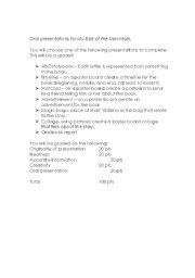 English teaching worksheets: The mountain