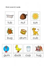 English teaching worksheets: Short vowels
