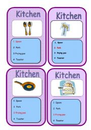 English Worksheets: Go fish GAME . Rooms and fornitute 3/5