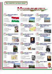 English Worksheet: Hungary