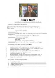 English Worksheets: Ross�s teeth